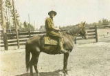 Edward Scriven on horseback, location unknown, ca. 1917