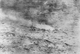 Aerial view of French infantry attacking, World War I, ca. 1916