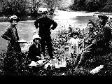 Japanese American family picnicing, n.d.