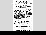 Advertisements for Seattle restaurants, 1885