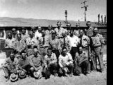 Group of white men, Minidoka Relocation Center, ca. 1943-1945