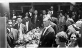 Attendees of funeral for Mrs. Sundstedt, a victim of the San Pedro Raid, California, ca. June 14,...