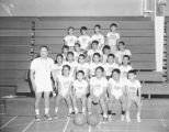 Seattle Parks Department Basketball Clinic, Willie Chin's youth basketball team, April 11, 1967