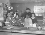 Elmer Ogawa, two police officers, and three friends socializing at a bar at the International...
