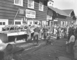 Participants in the International Sportsman's Club Salmon Derby at Lloyd's Boat House, Elliott...