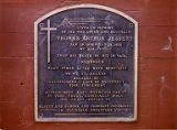 Memorial plaque for Arthur Jessett who died in a climbing accident on Mt. St. Helens, n.d.