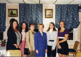 Jackie Boschok and others standing with United States Senator Patty Murray, ca. 1990s