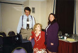 Jackie Boschok and two colleagues in meeting room, Coalition of Labor Union Women (CLUW) New...