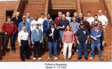 Jackie Boschok with large group of fellow classmates from Collective Bargaining Course, Placid...