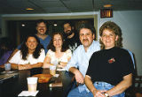 Jackie Boschok, Ronnie Behnke-Little and four other people at restaurant, Leadership II Course,...
