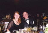 Alex Boschok and Jackie Boschok at dining table at the Wings of Heroes Gala at the Museum of...