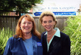 Jackie Boschok and Washington State Governor Christine Gregoire at campaign event, October 2008