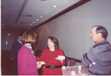Jackie Boschok speaking to Lois Hanson, International Association of Machinists (IAM) Grand Lodge...