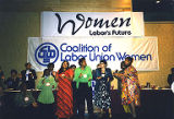 Attendees at the 9th Biennial Coalition of Labor Union Women (CLUW) Convention, Seattle,...