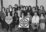 Group photograph of attendees at 3rd Biennial Coalition of Labor Union Women (CLUW) Convention,...