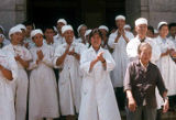 Working conditions of medical sites depicting female nurses, Trade Unionists tour of China, 1975