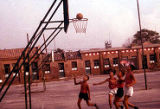 Children playing basketball, Trade Unionists tour of China, 1975