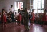Chinese children dancing, Trade Unionists tour of China, 1975