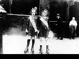 "Two young girls wearing ""Don't Be a Scab"" sashes, ca. 1910s-1920s"