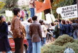 Bakke Decision Protest depicting people holding protest signs in Seattle, Washington, 1977