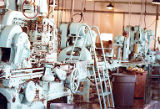 Canning line in cannery, unidentified cannery, Alaska, ca. 1970