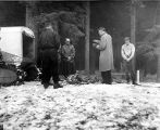 Reverend Thomas E. Jessett mourning for his son, Arthur Jessett, as rescue teams prepare to...