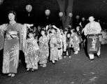 Japanese American children participating in the Bon Odori Japanese festival, Seattle, August 10,...