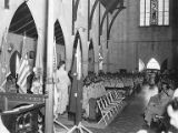 Interior of church full of seated memorial service attendees, Rockhampton, Australia, ca. 1943