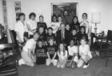 Ardmore Elementary School students and Senator Brock Adams, July 3, 1991