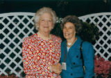 First Lady Barbara Bush with Betty Adams, May 5, 1992
