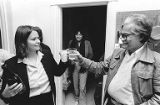 Terri Mast and Nemesio Domingo sharing a toast, September 30, 1982