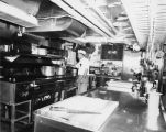 "Sailor's Union of the Pacific cook tending to meals on a ship, possibly the ""NORTH..."