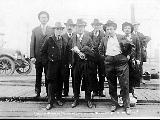IWW members charged with conspiracy to obstruct the war effort in the Chicago Case, Leavenworth,...