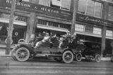 Jitneys on the streets of Seattle during the streetcar strike, July 26, 1917