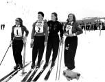 Competitors at the National Ski Championship, Mount Hood, Oregon, 1939