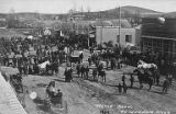 Horse show on the main street of Goldendale, 1909