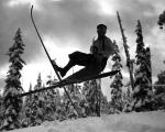Cross country skier, probably Cascade Mountains, n.d.