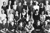 Andu Lauba's third grade class portrait in Tallinn, Estonia, 1943