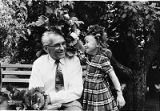 Inese Graudins celebrating Midsummer with her grandfather, Janis Saukants, in Minneapolis,...