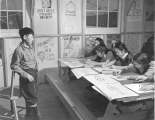 Free hand drawing class, Minidoka Relocation Camp, December 9, 1942