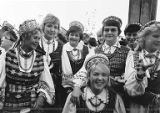 Rasa Raisys with the Lithuanian-American dance group, n.d.