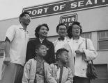 Asian-American family at Pier 48, Port of Seattle, 1950 or 1951