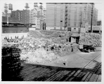 Wood yard employment site, Railroad Ave. and King St., Seattle, ca. 1933