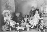 Collection of dolls and doll furniture, probably Seattle, ca. 1905