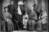 Japanese adults and children in Japanese and Western dress, location unknown, n.d.