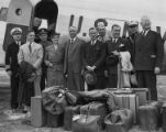 House Naval Affairs Committee visiting the Sand Point Naval Air Station, Seattle, Washington,...