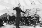 Congressman Warren Magnuson speaking at the Puget Sound Naval Yard, Bremerton, Washington,...
