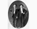 Studio photograph of two boys, ca. 1908