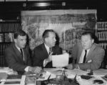 Congressman Tom Foley with Senators Henry M. Jackson and Warren G. Magnuson, June 3, 1966
