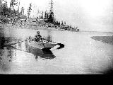 Home Colony, Henry Dadisman in boat, n.d.